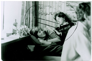 The photo of a teenage Diana Spencer lounging with a young man was deemed inappropriate by a British newspaper. Image courtesy RR Auction.