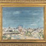 Wilhelm Thony (American/German 1888-1949), oil on cardboard view of Paris. Pook & Pook Inc. image.