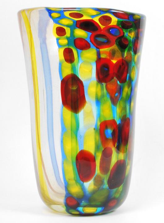 Rare Anzolo Fuga (Italian, 1915-1998) for A.V.E.M. 'Cristallo' vase, 13.5 in., one of five Fuga designs in the sale. Est. $7,000-$9,000. Palm Beach Modern Auctions image.
