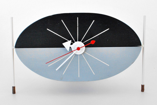 George Nelson (American, 1908-1986) for Howard Miller 'Watermelon' clock, 1954. Est. $6,000-$8,000. Palm Beach Modern Auctions image.