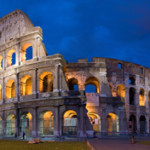 The Colosseum in Rome at night. Photo by David Iliff. License: CC-BY-SA 3.0. This file is licensed under the Creative Commons Attribution-Shre Alike 2.5 Generic license.