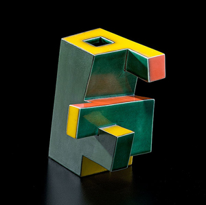 Sculptor Ken Price (1935-2012) is known for clever twists on the cup form, which he embellished with bright paint. Examples rarely come on the market. This Geometric Cup (H. 5 1/4 inches) from a 1970s series made in Taos, N.M., brought $114,562.50 in a Cowans-Clark-DelVecchio auction in November 2011. Courtesy Cowan's Auctions.