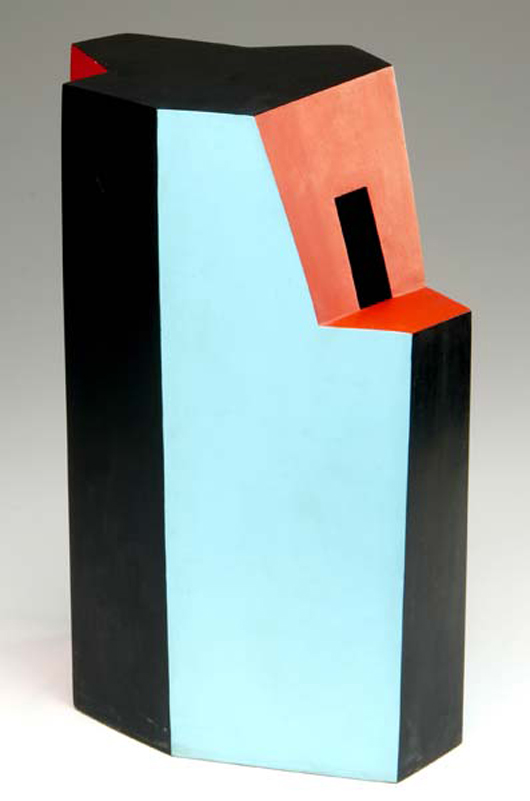 In 2007 this Ken Price geometric vessel brought $31,200 (est. $4,000/$6,000) at Rago Arts and Auction Center in Lambertville, N.J. Courtesy Rago Arts and Auction Center.