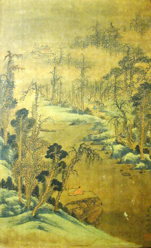 Chinese scroll painting attributed to Qian Weicheng (1720-1772). Ink and color on silk, inscribed and signed by artist with one seal. Painting size 30 x 18 in. Est. $10,000-$20,000. Imperial Auctioneers image.