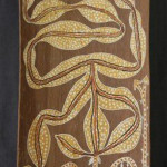 Aboriginal bark painting. Image courtesy of LiveAuctioneers.com Archive and Davidson Auctions.