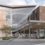 An artist rendering of the State Library Archive Museum under construction in Juneau, Alaska. Image courtesy State Library Archive Museum.