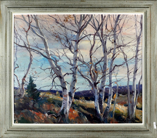Emille Gruppe, 'Afternoon Light – Vermont': $10,200. Woodbury Auction image.