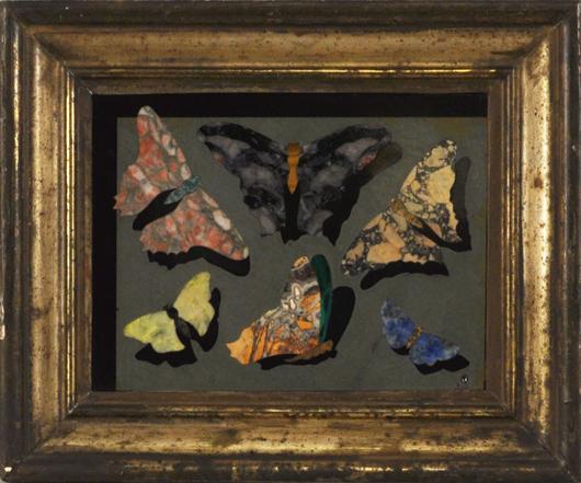 Italian pietra dura, $2,829: Woodbury Auction image.