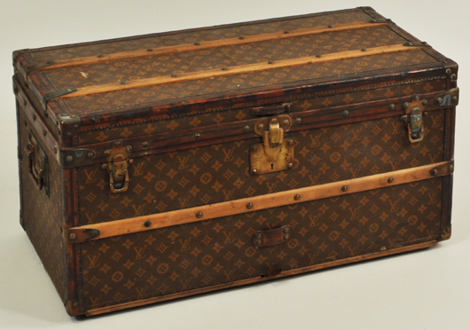 Louis Vuitton steamer trunk, $7,380: Woodbury Auction image.