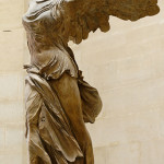 'Winged Nike of Samothrace,' parian marble, found in Samothrace in 1863. Image by Marie-Lan Nyguyen, courtesy Wikimedia Commons.