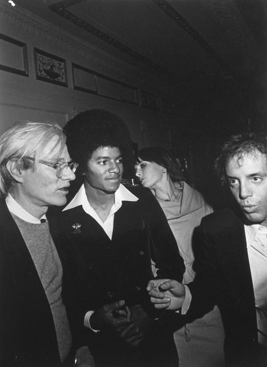 Photo of Andy Warhol, Michael Jackson and Steve Rubell, taken at Studio 54 in 1977. Auctioned for $960. Image supplied by Palm Beach Modern Auctions.