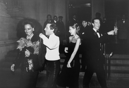 Photo of Diana Ross, Steve Rubell, an unidentified companion, and the fashion designer Halston, exiting Studio 54. Auctioned for $2,520. Image supplied by Palm Beach Modern Auctions.