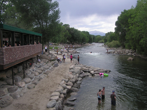 The Arkansas River at Salida, Colo., upstream from the proposed Christo installation. Image by Galt57. This file is licensed under the Creative Commons Attribution-Share Alike 3.0 Unported license.