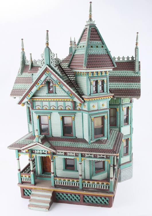 The Pittsburgh House, circa 1890, ex Toy Museum of Atlanta collection, $18,400. Noel Barrett Auctions image.