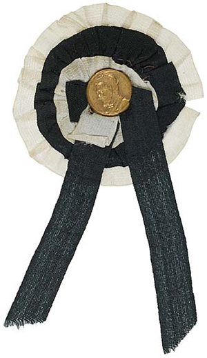 Abraham Lincoln mourning ribbon. Image courtesy of LiveAuctioneers.com Archive and Early American History Auctions.
