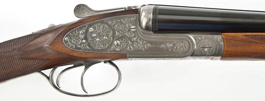 Browning B-SS Sidelock shotgun in 20 gauge: $3,700: Cordier Auctions & Appraisals image.