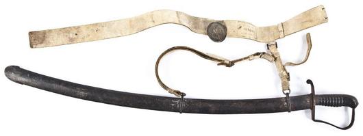 Pre-Civil War calvary saber: $1,100. Cordier Auctions & Appraisals image.