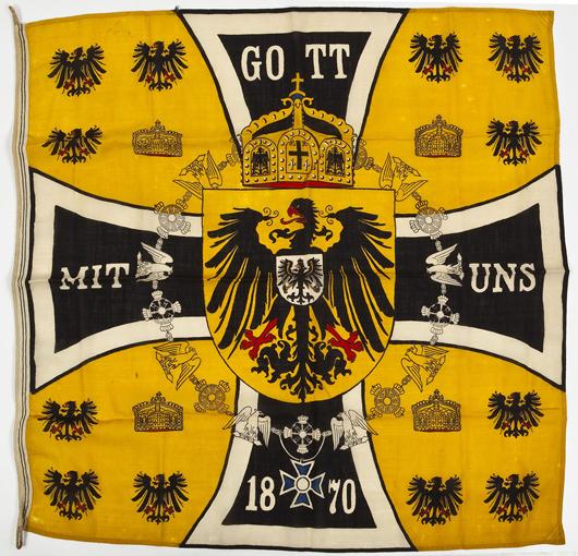 Imperial German Napoleonic era standard: $2,000. Cordier Auctions & Appraisals image.