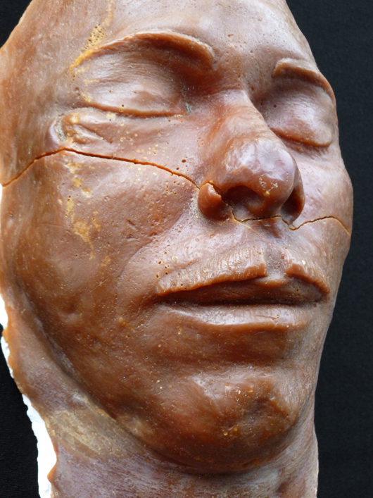 The death mask of Depression-era outlaw John Dillinger, on show from from March 23 to Nov. 3 in the 'Gangsters & Gunslingers' exhibition at the American Museum in Britain at Claverton Manor in Bath. Image courtesy of the American Museum in Britain.