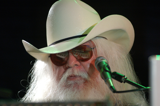 Leon Russell playing in at the Culture Room, Fort Lauderdale, Fla., in April 2009. Image by Carl Lender. This file is licensed under the Creative Commons Attribution 2.0 Generic license.