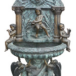 Bob Courtney Auctions will sell this large bronze fountain at the May 12 auction in Millbury, Mass. Image courtesy of Bob Courtney Auctions.