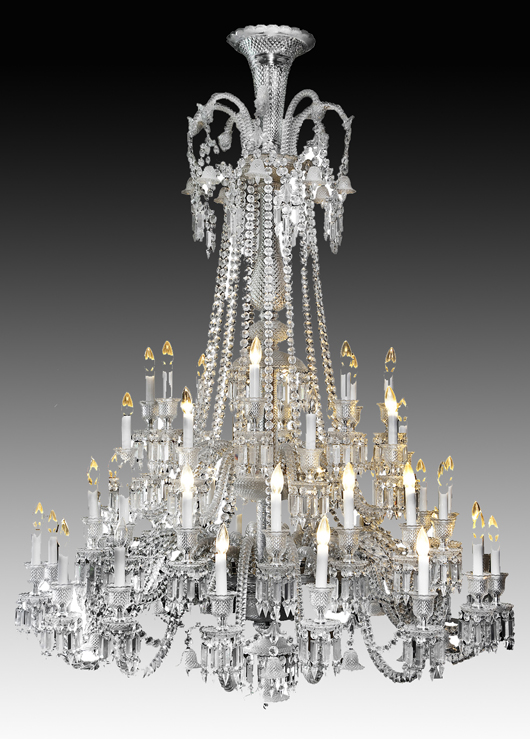 Large 48-light Baccarat Zenith chandelier. Price realized: $26,000. Cordier Auctions.