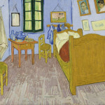 Van Gogh painted the third version of 'Bedroom in Arles' in late September 1889. The oil on canvas painting from the Musée d'Orsay in Paris will be exhibited at the Detroit Institute of Arts. Image courtesy Wikimedia Commons.