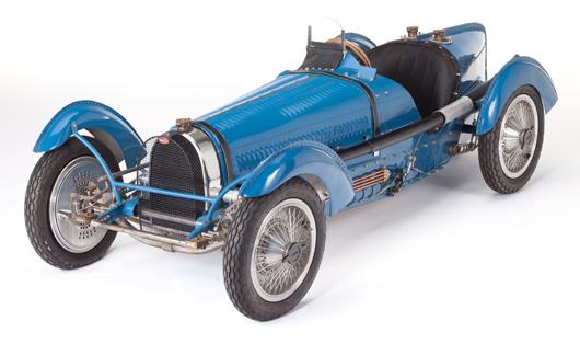 Motorized scale model of a 1933-1936 Bugatti Type 59. Estimate: $2,000-$4,000. Heritage Auctions image.