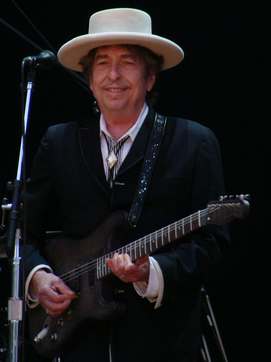 Singer-songwriter Bob Dylan. Image by Alberto Cabello. This file is licensed under the Creative Commons Attribution 2.0 Generic license,