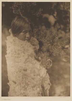 Curtis was able to establish a rapport with his subjects, which made possible relaxed and candid portraits, such as this image of 'A Cree Girl' wrapped in her rabbit fur cloak, on view at the St. Louis Art Museum. Courtesy St. Louis Art Museum.