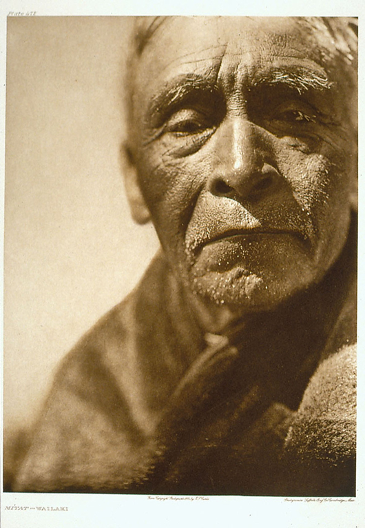 This 1924 photogravure print of tribal elder Mitat-Wailaki is part of the exhibition 'Edward Curtis: Visions of Native America' on view through June 16 at the St. Louis Art Museum. Courtesy St. Louis Art Museum.