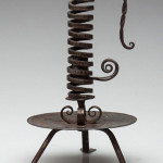 Samuel Yellin (1885-1940) Arts & Crafts wrought iron candlestick. Estimate: $800-$1,200. Courtesy of Jeffrey S. Evans & Associates Inc.