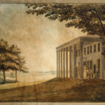 The watercolor by Benjamin Henry Latrobe is 17 1/2 inches high by 25 inches wide. Image courtesy of Mount Vernon Ladies' Association.