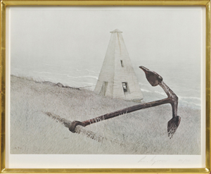 Andrew Newell Wyeth (American, 1917-2009), 'Sea Running,' 1978, edition of 300, printed in 1981 by Triton Press. Estimate: $800-$1,000. Skinner Inc. image.