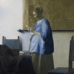Johannes Vermeer (1632-1675), 'Woman in Blue Reading a Letter,' oil on canvas.