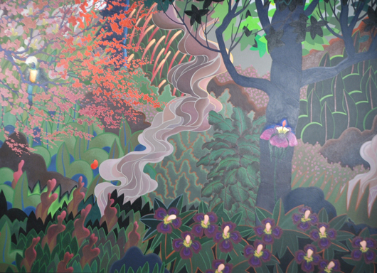 David Hickman's 'Deep in the Night Garden.' Lewis & Maese Auction Co. image.