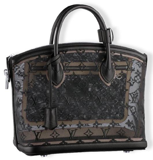 Louis Vuitton Lockit transparent handbag. Government Auction image.