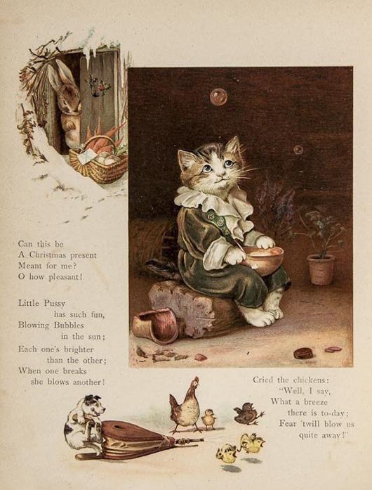 'Isn't it Funny,' vignette, Nister & Dutton, 1894. £800-£1,200. Bloomsbury image.