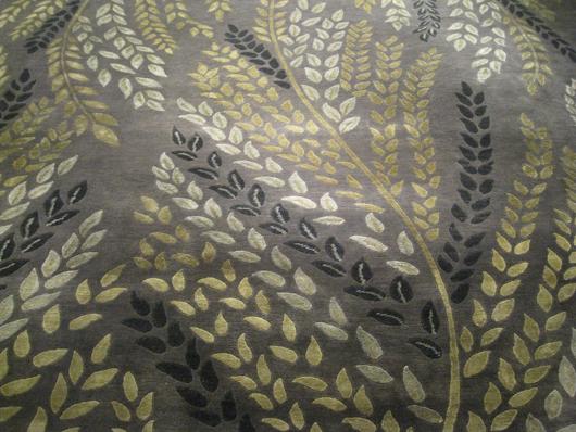 Tibetan/Nepalese rug of wool and silk. Aaron's Oriental Rug Gallery image.
