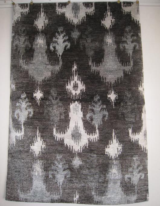 Tibetan/Nepalese rug, wool and silk. Aaron's Oriental Rug Gallery image.