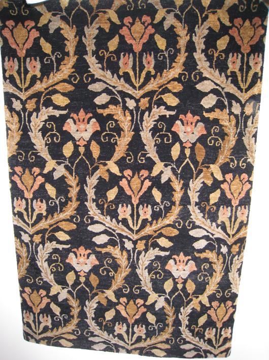 Transitional Nepal rug. Aaron's Oriental Rug Gallery image.