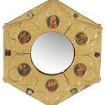 Joseph Edward Southall RWS (1861-1944), a convex wall mirror. Dreweatts & Bloomsbury Auctions image.