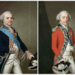 Kaspar Benedikt Beckenkamp (German 1747-1828) portrait of Louis, Comte de Provence, later King Louis XVIII of France, and portrait of Charles, Comte d'Artois, later King Charles X of France, oils on canvas. Exhibitor: Nicholas Bagshawe. Images courtesy Chelsea Antiques Fair.