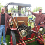 Car owner Charlie Reindel (right) with friend and longtime employee Al Roy at an antique car show at Greenfield Village in Dearborn, Mich. Submitted photo.