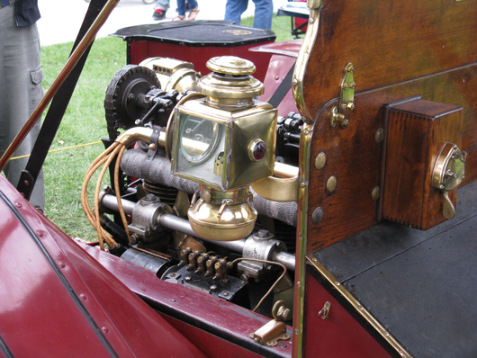 The fittings on the 1910 Model F Roadster are solid brass. Submitted photo.