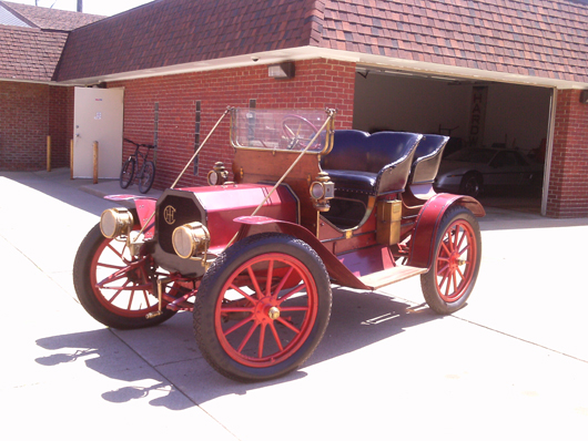 The 1910 Model F Roadster is powered by a four-cylinder roller cam engine. The car cost $1,200 new. Submitted photo.