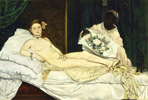 Edouard Manet's famous 'Olympia' will be leaving the France's Musee d'Orsay for a viewing in Venice. Image courtesy of Wikimedia Commons.