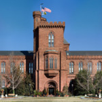 The original Smithsonian Building in Washington D.C. Image courtesy of Wikimedia Commons.
