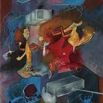 Lotto 89, Sebastian Matta, Tropete Vino Vino Venus, Olio su tela, 74 x 82 cm, Stima €40.000-50.000, Courtesy Capitolium Art Brescia.