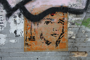 Wheatpasting by JC, Brooklyn. Photo by Kelsey Savage.
